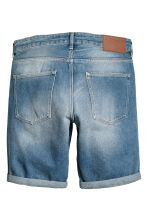 Trashed jeansshort - Low waist - Licht denimblauw - HEREN | H&M BE 2
