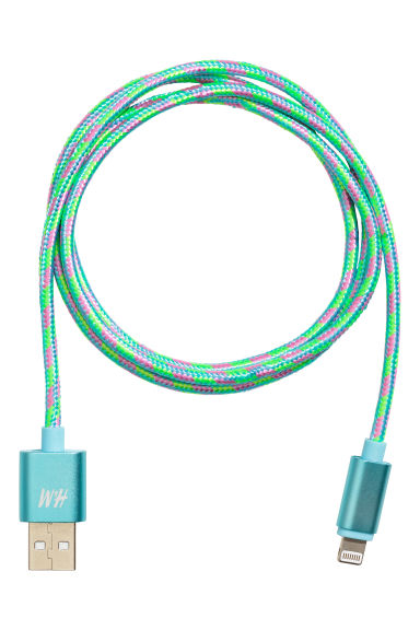 Charging cable - Green/Patterned - Ladies | H&M CN