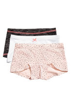 3件入平口內褲 - Powder pink/Spotted -  | H&M 1