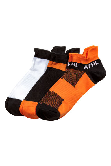3-pack sports socks - Orange/Black - Men | H&M 1