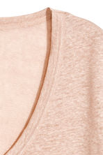 Linen jersey top - Powder pink marl - Ladies | H&M 3