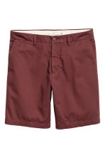 Chino shorts - Burgundy - Men | H&M 2