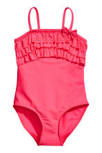 Swimsuit with frills - Neon pink - Kids | H&M 1