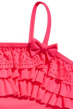 Swimsuit with frills - Neon pink -  | H&M 2