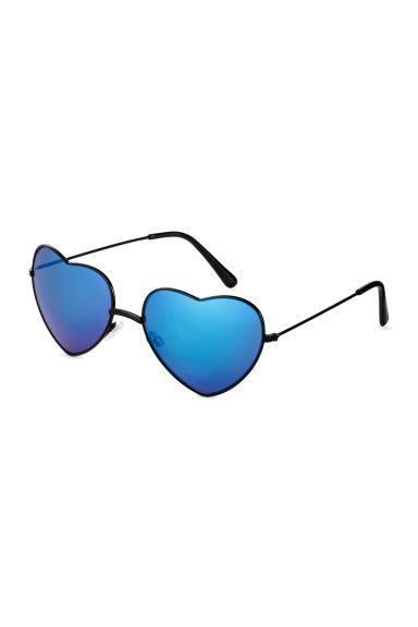 Heart-shaped sunglasses - Black/Blue - Ladies | H&M 1