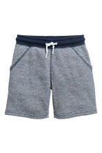 Sweatshirt shorts - Dark blue/Narrow striped -  | H&M 2