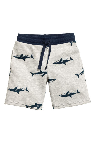 Sweatshirt shorts - Light grey/Sharks -  | H&M 1