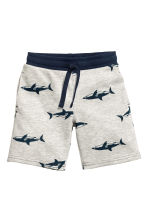Sweatshirt shorts - Light grey/Sharks -  | H&M CA 1