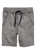 Sweatshirt shorts - Black/White marl -  | H&M 2