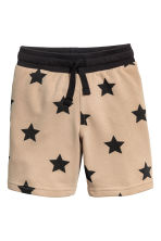 Sweatshirt shorts - Beige/Stars -  | H&M IE 2