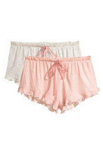 2-pack pyjama shorts - Apricot/Striped - Ladies | H&M 2
