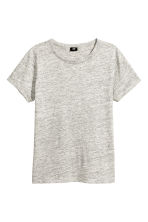 Slub jersey T-shirt - Grey marl - Men | H&M 2