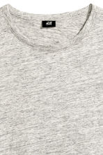 Slub jersey T-shirt - Grey marl - Men | H&M 3