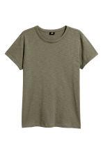 T-shirt in jersey flammé - Verde kaki - UOMO | H&M IT 2