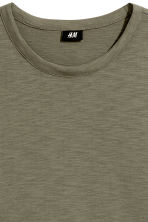 Slub jersey T-shirt - Khaki green - Men | H&M 3