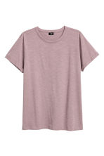 Slub jersey T-shirt - Light heather - Men | H&M CN 2