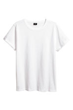 T-shirt in jersey flammé - Bianco - UOMO | H&M IT 2