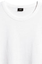 Slub jersey T-shirt - White - Men | H&M 3