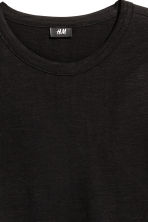 Slub jersey T-shirt - Black - Men | H&M 3