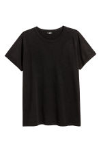 Slub jersey T-shirt - Black - Men | H&M 2