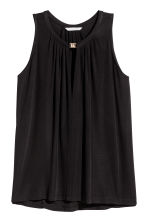 Sleeveless jersey top - Black - Ladies | H&M 2