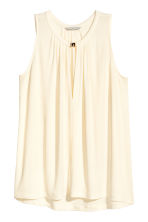 Top in jersey senza maniche - Bianco naturale - DONNA | H&M IT 2