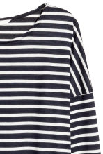 Striped jersey top - Dark blue/Striped - Ladies | H&M CN 3