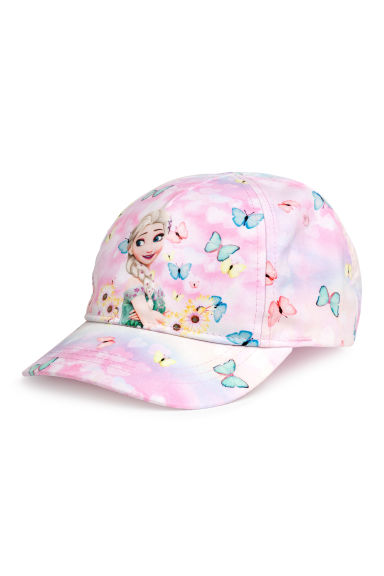 Patterned cap - Light pink/Frozen - Kids | H&M CA 1