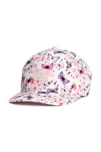 Cap with appliqué - White/Butterflies -  | H&M 1