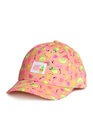 Cap with appliqué - Coral pink/Fruit - Kids | H&M 1