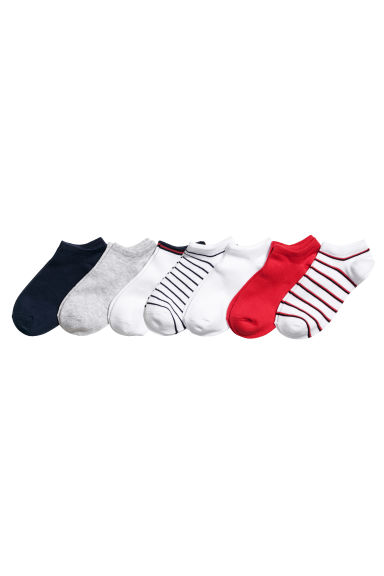 7-pack trainer socks - Red/Striped - Ladies | H&M 1