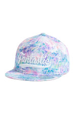 Cap with a motif - Purple/Patterned - Kids | H&M CN 1