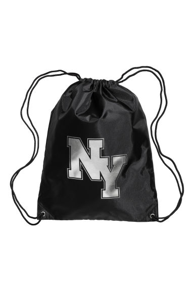 Gym bag - Black/New York - Kids | H&M CN 1