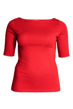 H&M+ Ribbed top - Red -  | H&M 2