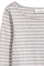 Top in slub jersey - Grey/Striped - Ladies | H&M 3