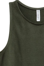 Sleeveless jersey dress - Dark green - Ladies | H&M IE 3
