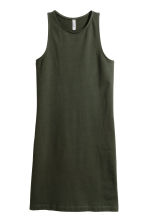 Sleeveless jersey dress - Dark green - Ladies | H&M IE 2
