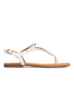Toe-post sandals - White - Ladies | H&M 1
