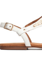 Toe-post sandals - White - Ladies | H&M 4