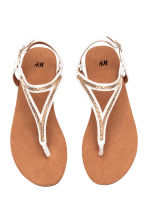 Toe-post sandals - White - Ladies | H&M CN 2