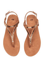 Toe-post sandals - Brown - Ladies | H&M CN 2