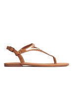 Toe-post sandals - Brown - Ladies | H&M 1
