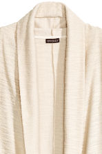 Draped cardigan - Natural white - Men | H&M CN 3