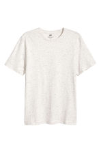 T-shirt med neps Regular fit - Naturvit/Neps - Men | H&M FI 1