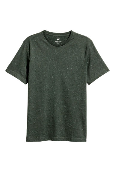 T-shirt a neps Regular fit - Verde scuro/neps -  | H&M IT 1