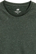 Nepped T-shirt Regular fit - Dark green/Neps -  | H&M 2