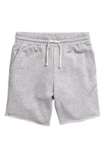 Knee-length sweatshirt shorts - Grey marl - Men | H&M CN 2