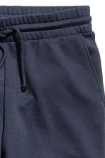 Knee-length sweatshirt shorts - Dark blue -  | H&M 3