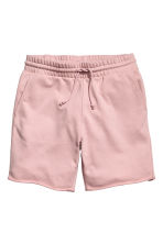 Knee-length sweatshirt shorts - Dusky pink - Men | H&M 1