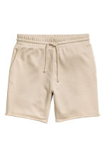 Knee-length sweatshirt shorts - Beige - Men | H&M CN 2